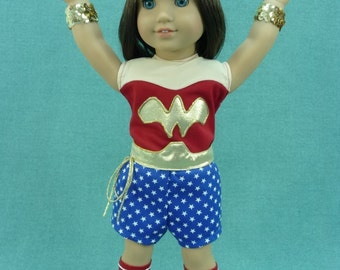 Super hero Woman, Superhero Woman, outfit or costume for American Girl Doll