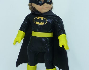 Bat Girl, Batgirl, Superhero, Super Hero, doll clothes outfit or costume cosplay for American Girl Doll