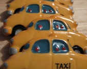 New York Yellow Taxi Cab Buttons