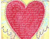 LOVE for a CHILD 11x14 Wood Mounted Art Print