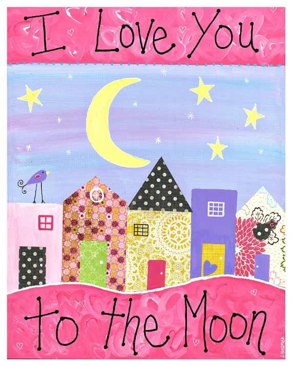 I Love You to the Moon 11x14 print  - ready to frame