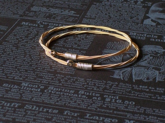 Guitar String Bangle Bracelet Set 2