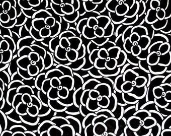 Original INK Drawing BLACK FLOWERS