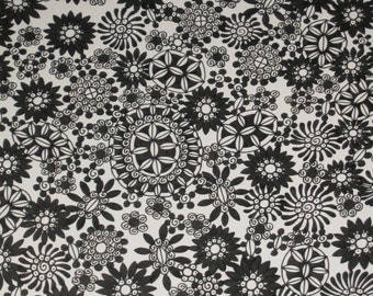 Pen and Ink Drawing Little Black Flowers