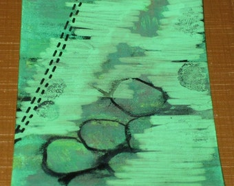 Original Drawing ACEO Three Rocks