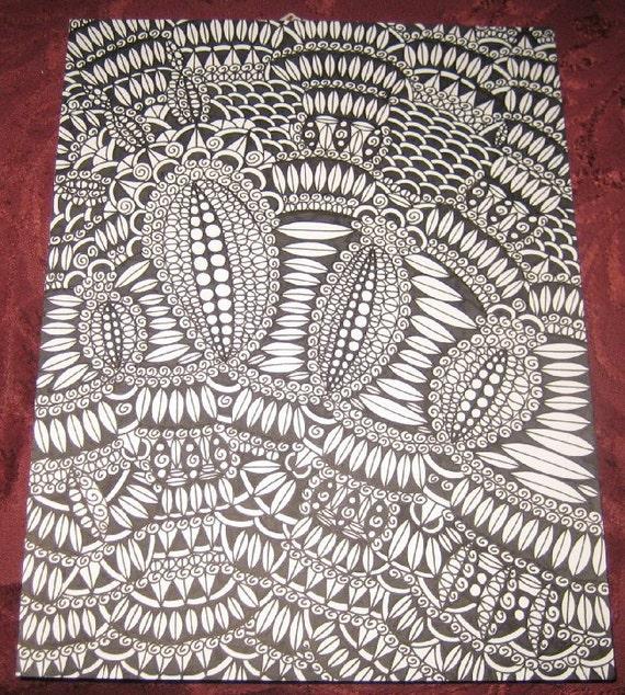 Original Pen and Ink Drawing Design