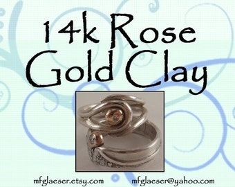 14k Rose Gold Clay