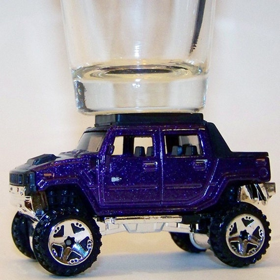 Hot Wheels, Hummer H2, Purple, Shot Glass