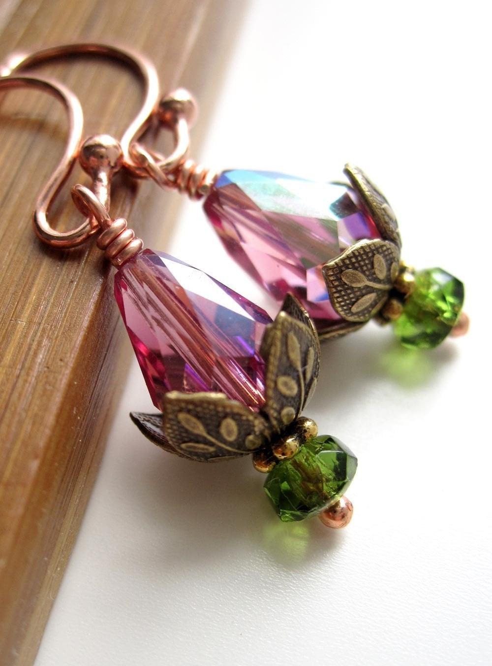 tiny sleeping lotus flower earrings water by