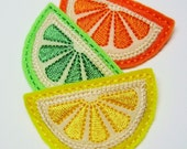 Citrus Wedge Snap Clippie - Lemon, Lime or Orange