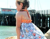 Going Coastal Halter Swing Top for Girls