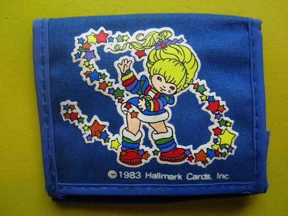 Vintage 1980's Bright Blue Rainbow Brite Wallet Collectible