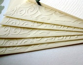Embossed Notecards and envelopes (set of 5)