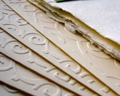 Cotton Rag Embossed Notecards and Envelopes (Set of 5)