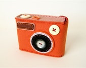 Camera Camera Case -Degicame No.58 (orange\/muted pink)