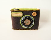 Camera Camera Case -Degicame No.89 (dark chocolate\/green tea)