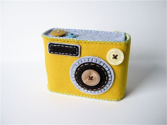 Camera Camera Case -Degicame No.103 (mimosa\/mixed gray)