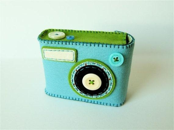 Camera Camera Case -Degicame No.107 (smoky turquoise/moss green)