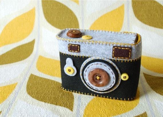 Camera Camera Case -Analogu No.33 (black/mustard)