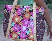 Original Satchel tote bag - PDF Sewing Pattern Instant Download - makes a great purse or diaper bag