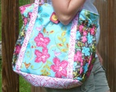 Satchel XL tote bag - easy pdf purse sewing pattern -  great diaper bag, travel bag or carry all - Instant Download