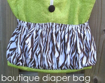 Boutique Diaper Bag - easy pdf sewing pattern - large tote bag also makes a great travel bag - Instant Download