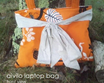 Laptop Bag - easy PDF Sewing Pattern - customize to any size laptop or netbook - Instant Download