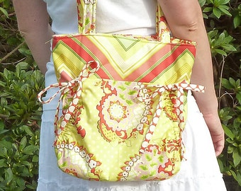 PDF Purse Sewing Pattern - Instant Download - Aivilo Cinch Purse - easy to sew handbag with bows