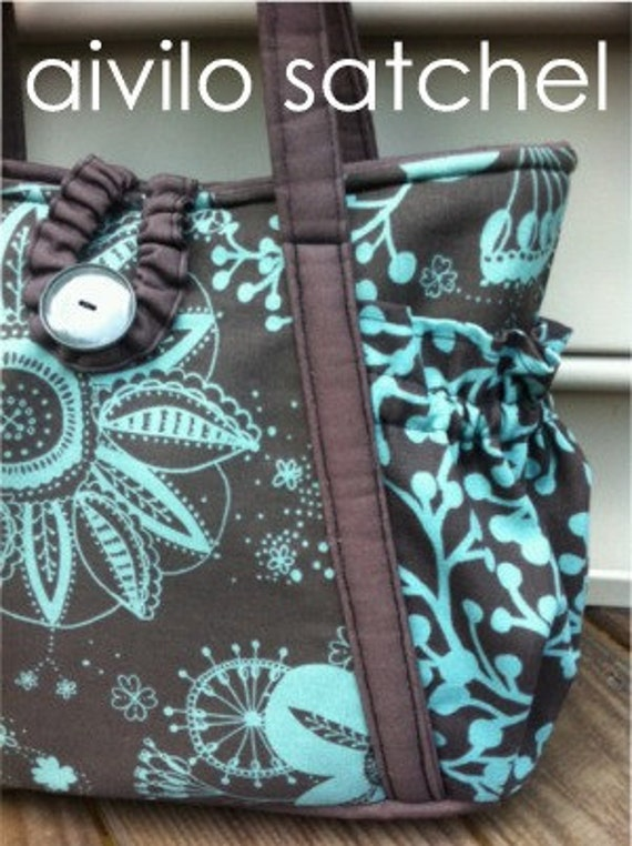 Original Satchel tote bag- Easy PDF Sewing Pattern Instant Download - purse or diaper bag