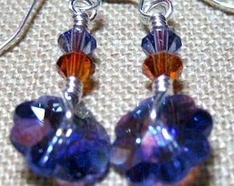 Mini Wheel Earrings in Tanzanite - E765