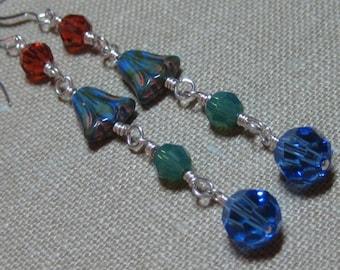 Blue Bell Linear Earrings - E557