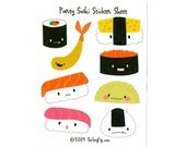 Party Sushi Sticker Sheet