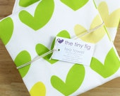 Spring Sprouts Green and Yellow Tea Towel