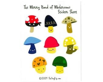 Merry Band of Mushrooms Sticker Sheet