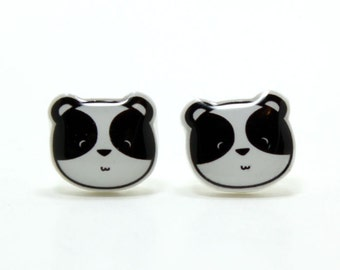 Panda Earrings | Panda Bear | Sterling Silver Studs | Gifts For Her