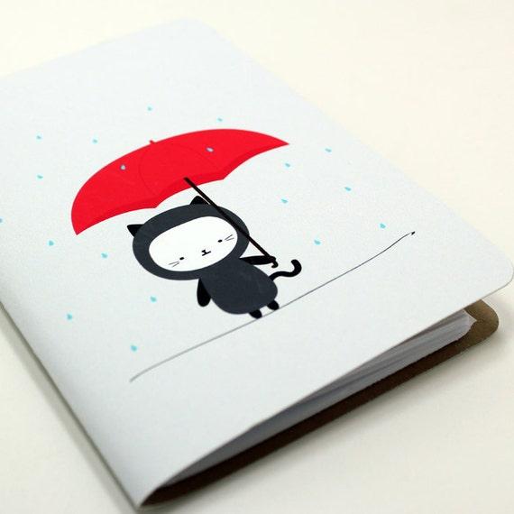 Raining Kitty Pocket Notebook