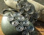 Egyptain Spiral earrings in sterling silver