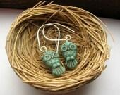 Sweet Owl in Turquoise earrings