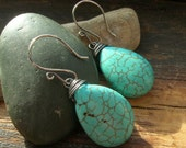 Turquoise and Sterling Silver Wrapped earrings