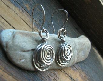 Etruscan Spiral earrings in sterling silver