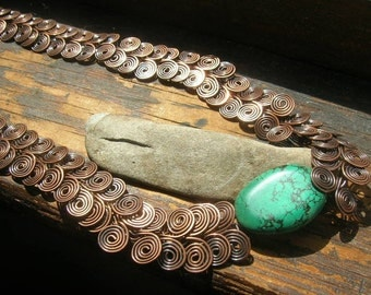 Turquoise Egyptian Spiral necklace