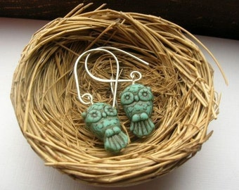 Sweet Owl in Turquoise earrings
