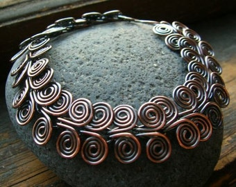 Ancient Egyptian Copper Spiral bracelet