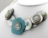 Customized Button Necklace You Design Personalized Button Necklace Fashion Necklace Button Jewelry
