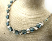 RESERVED  Swarovski Crystal Button Necklace