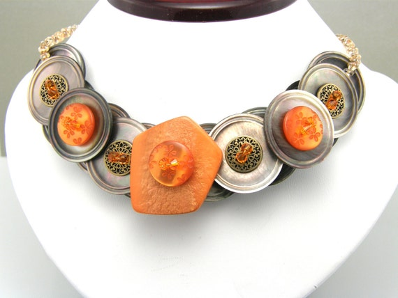 Button Necklace Gifted to Rachael Ray  Made To Order