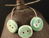 Sea Foam handmade ceramic buttons (3)