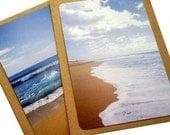 Sacred Beach Postcard Pack - 10 cards, 10 envelopes, 2 designs. ECO-FRIENDLY brown envelopes.