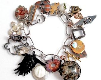 EtsyMetal Charm Swap 7 Bracelet