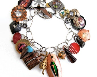 EtsyMetal Charm Swap 8 Bracelet
